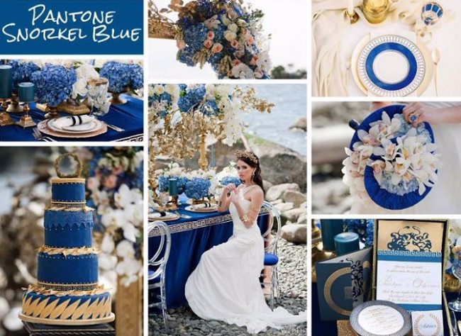 Eggshell blue wedding